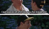 happy Gilmore adam sandler shooter mcgavin shit for breakfast movie scene funny pics pictures pic picture image photo images photos lol