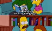 ned flanders simpsons tv scene harry potter hell funny pics pictures pic picture image photo images photos lol
