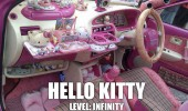 hello kitty car decorated japan kids toys level infinity funny pics pictures pic picture image photo images photos lol
