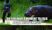 angry hippo chasing man excuse me sir jesus christ animal funny pics pictures pic picture image photo images photos lol