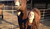 horse making faces too mainstream duckface girl animal funny pics pictures pic picture image photo images photos lol