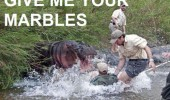 give me marbles hungry hippo attacking man river animal jungle funny pics pictures pic picture image photo images photos lol