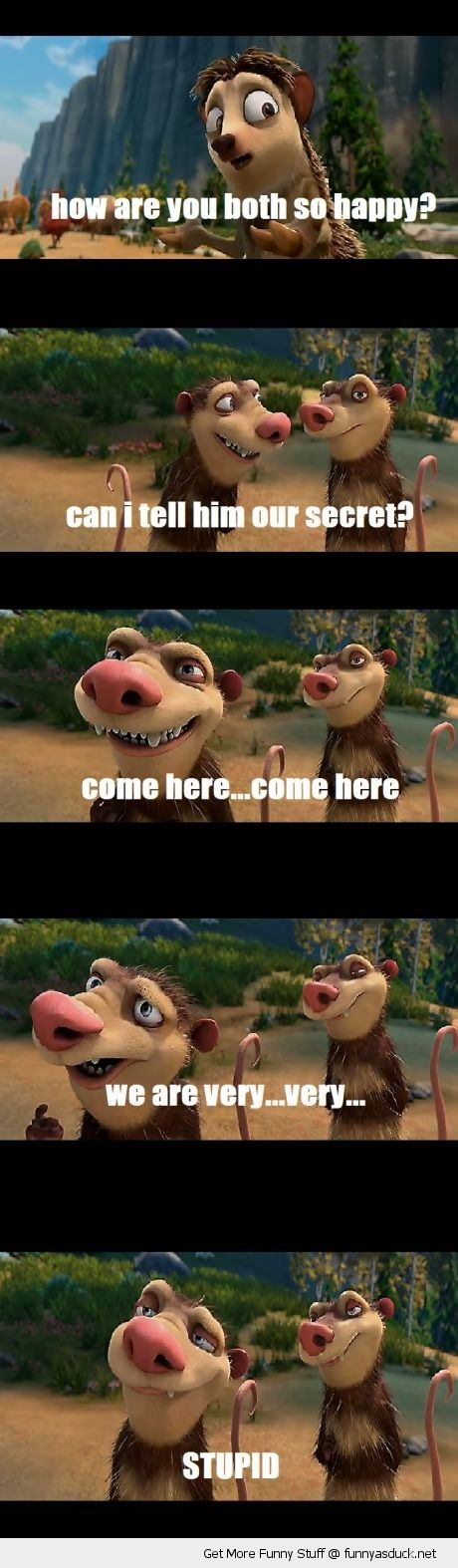 ice age movie scene rats rodents animals stupid secret happiness funny pics pictures pic picture image photo images photos lol