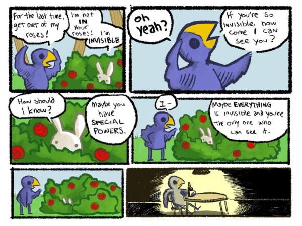 invisible rabbit bunny bush special powers bird comic funny pics pictures pic picture image photo images photos lol