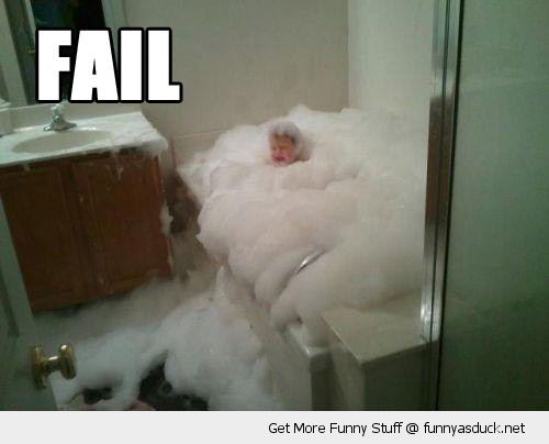 fail kid bubble bath overflow scared drowning funny pics pictures pic picture image photo images photos lol