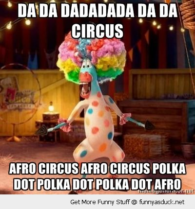 Madagascar movie tv scene circus afro dancing horse funny pics pictures pic picture image photo images photos lol