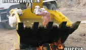 meanwhile in russia bath digger work man jcb cat funny pics pictures pic picture image photo images photos lol