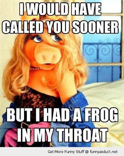 miss piggy frog throat rude kermit muppets funny pics pictures pic picture image photo images photos lol