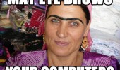 may eye brows i browse you computer woman monobrow ugly funny pics pictures pic picture image photo images photos lol