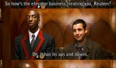 mr deeds adam sandler movie scene joke elevator ups downs funny pics pictures pic picture image photo images photos lol