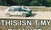 this isn't my blanket race car stunt driver bridge bonnet funny pics pictures pic picture image photo images photos lol