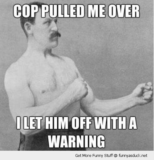 old time boxer meme cop pulled over let him off funny pics pictures pic picture image photo images photos lol