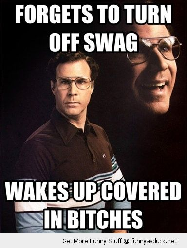 will ferrell allen gamble other guys forgot turn of swag wakes up covered bitches movie funny pics pictures pic picture image photo images photos lol