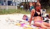 irish girl sunbathing pale beach sand other one funny pics pictures pic picture image photo images photos lol