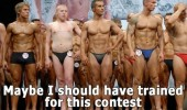 pale skinny man boy body building contest should have trained funny pics pictures pic picture image photo images photos lol