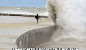 immediately regret this photographer hurricane sandy wave water funny pics pictures pic picture image photo images photos lol