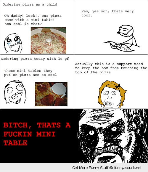 mini table pizza rage comic meme funny pics pictures pic picture image photo images photos lol
