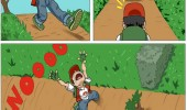 pokemon gaming logic tree cut stuck ash funny pics pictures pic picture image photo images photos lol