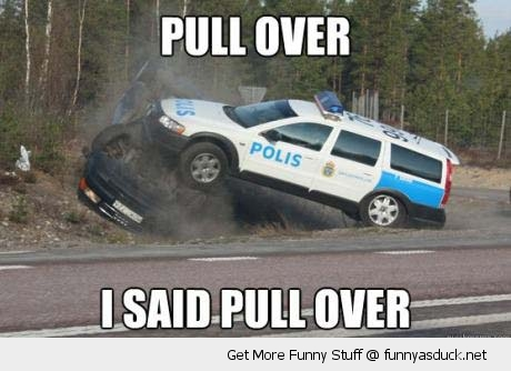 pull over cop police car crash road chase funny pics pictures pic picture image photo images photos lol