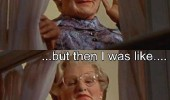 first i was like then robin williams mrs doubtfire middle finger fuck you movie scene funny pics pictures pic picture image photo images photos lol