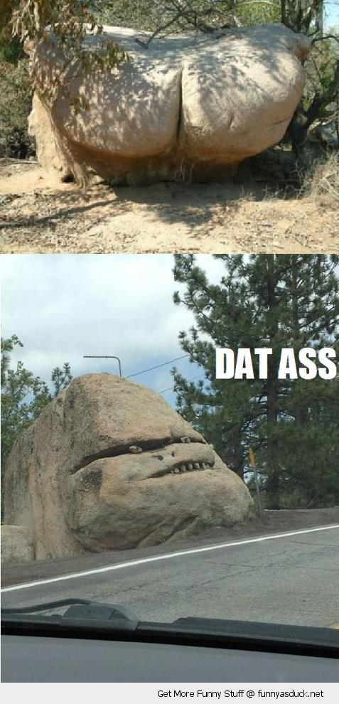 dat ass rock stone face forest park funny pics pictures pic picture image photo images photos lol