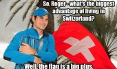 roger federer pun swiss flag switzerland big plus joke funny pics pictures pic picture image photo images photos lol
