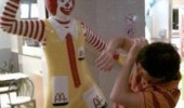 i'll slap the mcshit out of you ronald mcdonald clown statue funny pics pictures pic picture image photo images photos lol