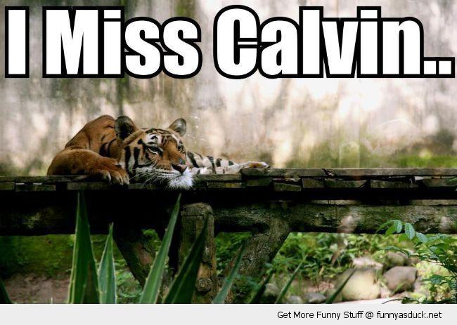 I Miss Calvin...