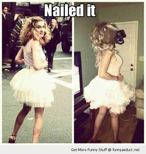 nailed it sarah jessica parker horse head posing tv sex city funny pics pictures pic picture image photo images photos lol