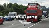 shall not pass swan bird lord of the rings gandalf truck lorry funny pics pictures pic picture image photo images photos lol