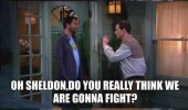 sheldon cooper big bamg theory tv scene show fight fists invisible cow prepare yourself funny pics pictures pic picture image photo images photos lol