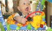 shocked scared baby walker kid left oven on funny pics pictures pic picture image photo images photos lol