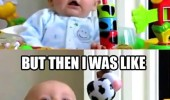first i was like shocked scared baby laughing happy kid then walker funny pics pictures pic picture image photo images photos lol