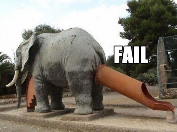 kids play park slide chute elephants butt bum fail funny pics pictures pic picture image photo images photos lol