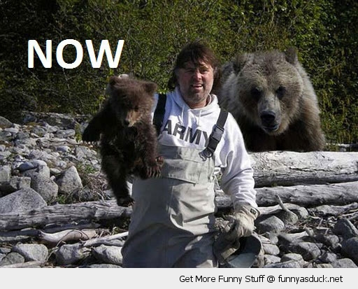 now soon bear bearcub man holding animal karma funny pics pictures pic picture image photo images photos lol
