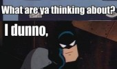 batman spiderman what thinking about whatcha justice stuff super heroes dc marvel funny pics pictures pic picture image photo images photos lol