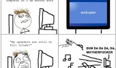 left speakers full volume rage comic meme pc windows computer funny pics pictures pic picture image photo images photos lol