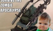 armored stroller buggy guns zombie apocalypse survive baby success kid meme funny pics pictures pic picture image photo images photos lol