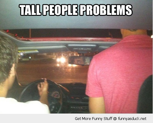 tall people problems head car sun roof driving funny pics pictures pic picture image photo images photos lol