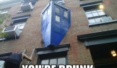 go home tardis drunk crashed building doctor who smashed funny pics pictures pic picture image photo images photos lol