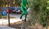 unicorn unitard unicycle man riding costume random street funny pics pictures pic picture image photo images photos lol