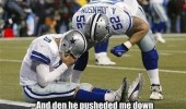 upset sad american football player bad names push down sport nfl funny pics pictures pic picture image photo images photos lol