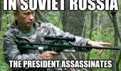 soviet russia vladimir putin rifle gun forest president assassinates you funny pics pictures pic picture image photo images photos lol