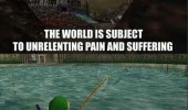 zelda link logic pain suffering i should fish ocarina of time n64 gaming retro funny pics pictures pic picture image photo images photos lol