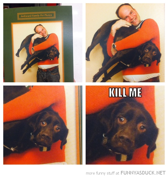 awkward pet xmas christmas card man holding dog kill me funny pics pictures pic picture image photo images photos lol