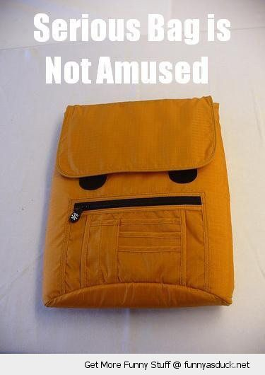 back pack angry grumpy face serious bag not amused funny pics pictures pic picture image photo images photos lol