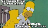 bart homer simpson miss whole summer like me when older funny pics pictures pic picture image photo images photos lol