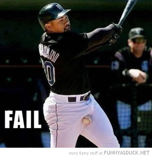 baseball player ball nuts strike fail sport funny pics pictures pic picture image photo images photos lol