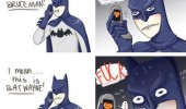 batman on phone wrong name bruceman batwayne comic fuck funny pics pictures pic picture image photo images photos lol