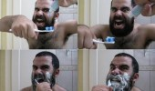 beard toothbrush toothpaste sparta brush like a man funny pics pictures pic picture image photo images photos lol